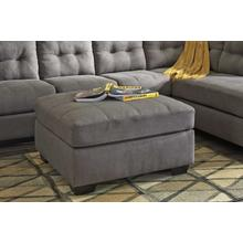 Maier Oversized Accent Ottoman Charcoal