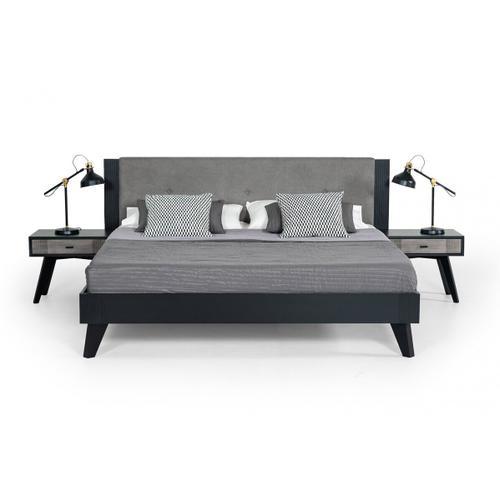 VIG Furniture - Nova Domus Panther Contemporary Grey & Black Bedroom Set
