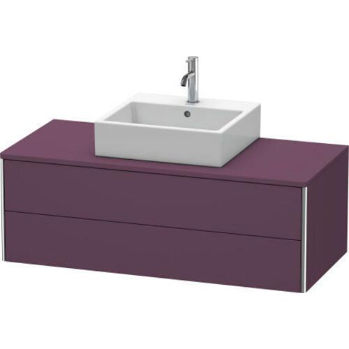 Product Image - Vanity Unit For Console Wall-mounted, Aubergine Satin Matte (lacquer)