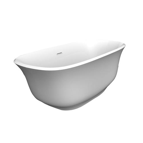 """Ceres 59"""" Acrylic Tub with Integral Drain and Overflow - Oil Rubbed Bronze Drain and Overflow"""