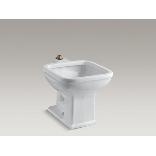 "White 21"" X 27-1/8"" Floor-mounted Siphon-jet Flushing Rim Service Sink"