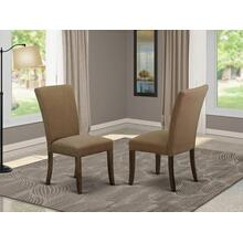 Alpine parson Chair with Mahogany Finish Leg and Linen fabric-Light Sable Color