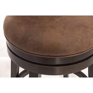 Edenwood Swivel Counter Stool - Chocolate & Chestnut
