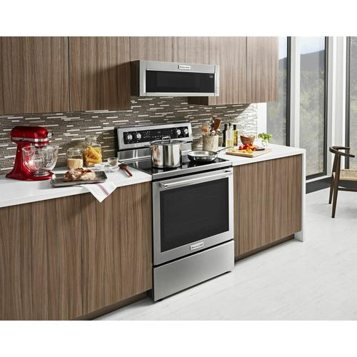 KitchenAid - 30-Inch 5-Element Electric Convection Range - Stainless Steel
