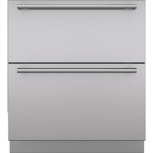 """Stainless Steel 30"""" Drawer Panels with Tubular Handles"""