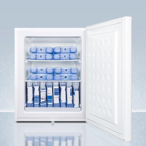 Summit - Compact Manual Defrost All-freezer for Medical/general Purpose Use, With Nist Calibrated Thermometer and Lock