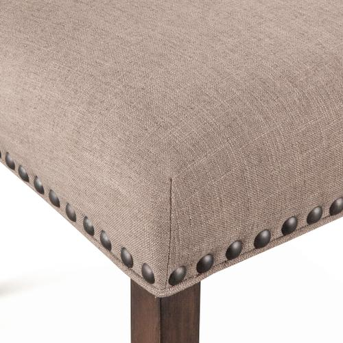 Sofie Dining Chair Taupe Linen with Weathered Teak Legs