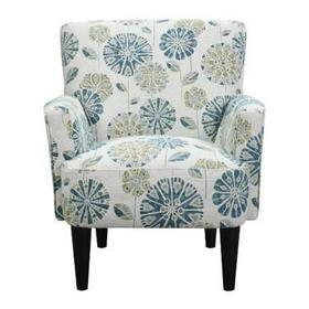 U3535-05-05 Flower Power Accent Chair - Cascade Mineral
