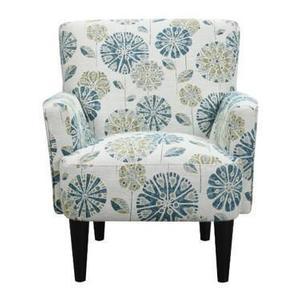 All Wood Furniture - U3535-05-05 Flower Power Accent Chair - Cascade Mineral