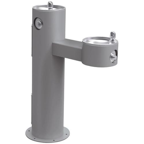 Elkay - Elkay Outdoor Fountain Bi-Level Pedestal Non-Filtered, Non-Refrigerated Freeze Resistant Gray