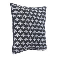 Bees At Night Pillow Black