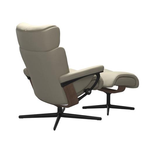Stressless By Ekornes - Stressless® Magic (M) Cross Chair with Ottoman