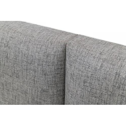 VIG Furniture - Nova Domus Maranello - Modern Grey Fabric Bed w/ Two Nightstands