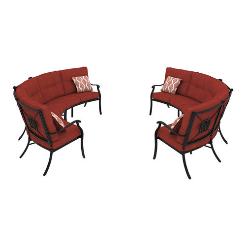 Burnella 2 Piece Patio Set Brown