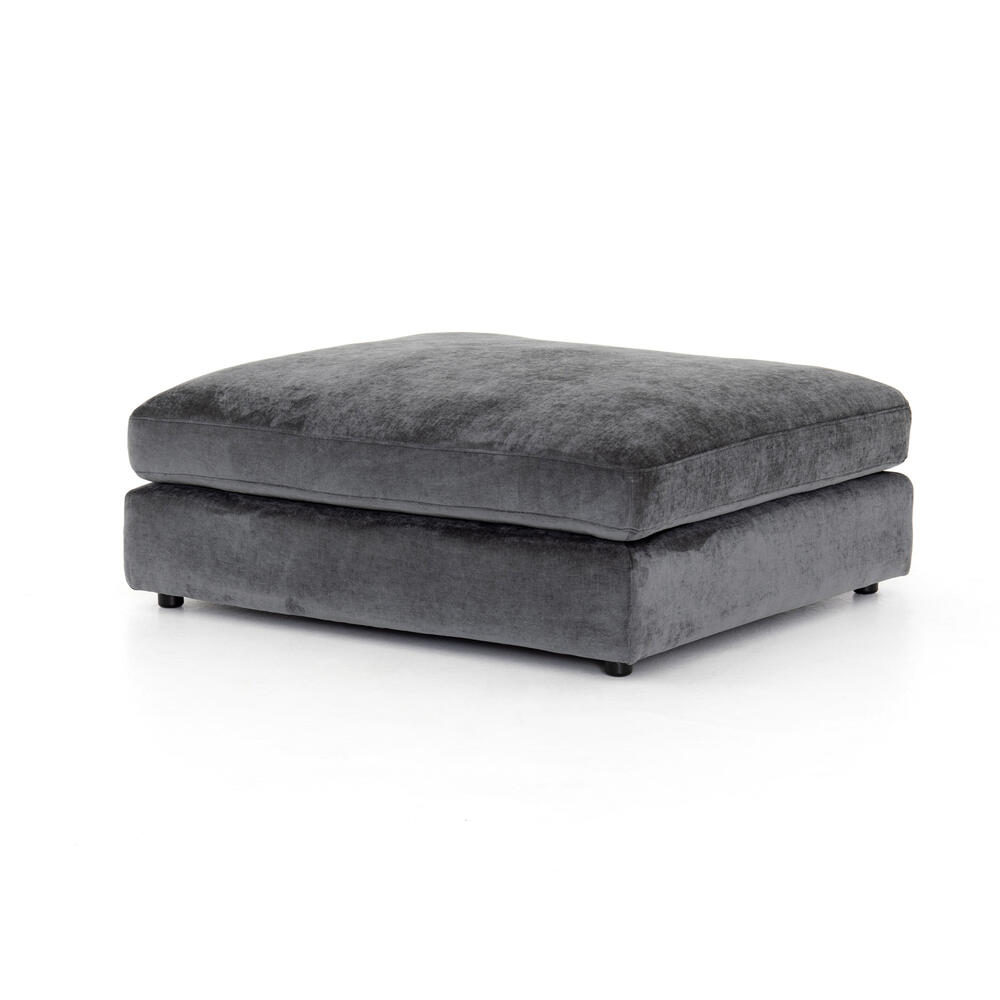 Ottoman Configuration Charcoal Worn Velvet Cover Bloor Sectional Pieces