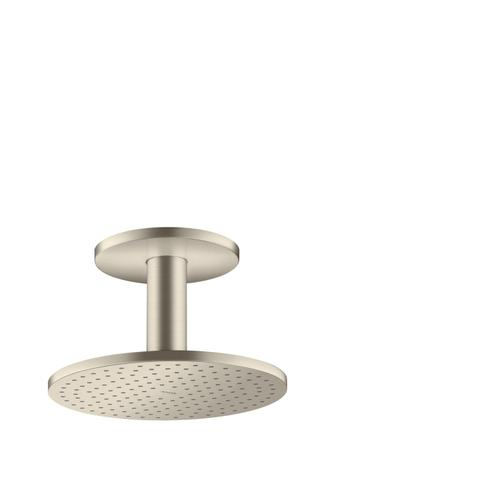 Brushed Nickel Overhead shower 250 1jet with ceiling connection