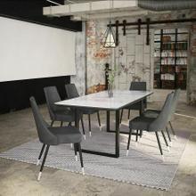 See Details - Gavin/Silvano 7pc Dining Set, Black/Vintage Grey