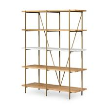 Olga Bookshelf-golden Brass