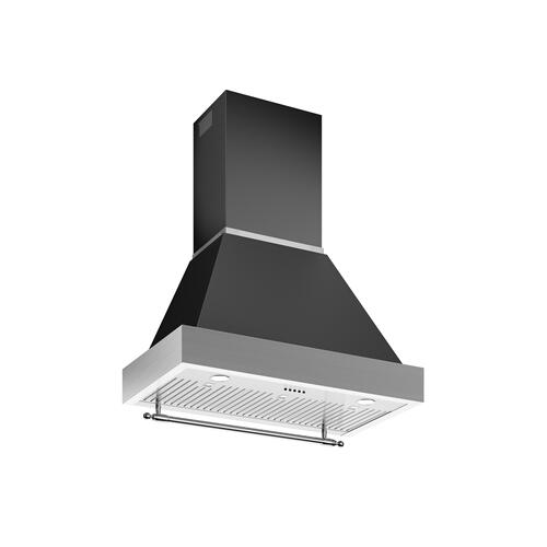 36 Wallmount Canopy and Base Hood, 1 motor 600 CFM Nero Matt