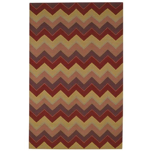 """Irish Stitch Berry Khaki - Rectangle - 5' x 8'6"""""""