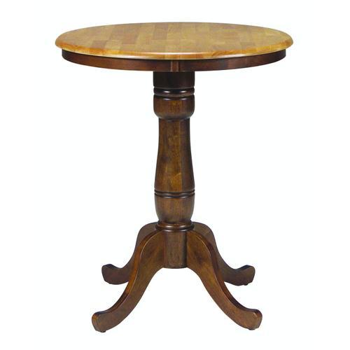 Gallery - 30'' Pedestal Table in Cinnamon & Espresso