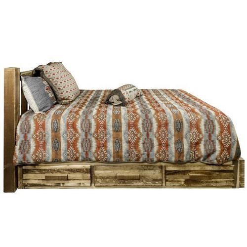 Montana Woodworks - Homestead Collection Platform Bed with Storage, Stain and Lacquer Finish