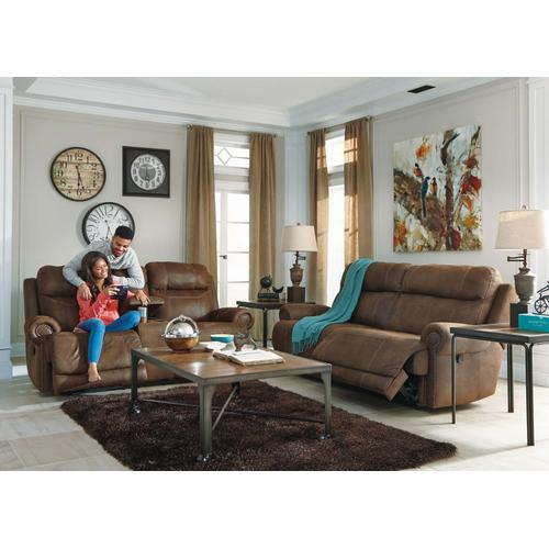 Austere 2 Seat Reclining Sofa & Console Loveseat Brown
