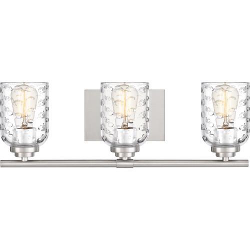 Quoizel - Cristal Bath Light in Brushed Nickel