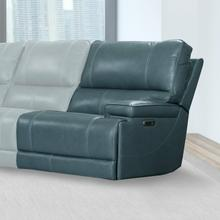 View Product - WHITMAN - VERONA AZURE - Powered By FreeMotion Power Cordless Right Arm Facing Recliner