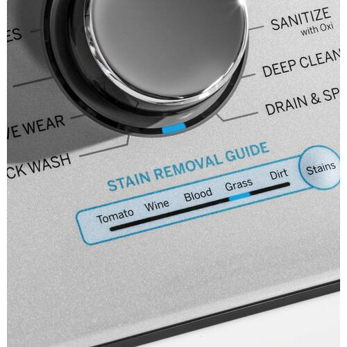 GE® 4.8 cu. ft. Capacity Washer with Sanitize w/Oxi and FlexDispense™