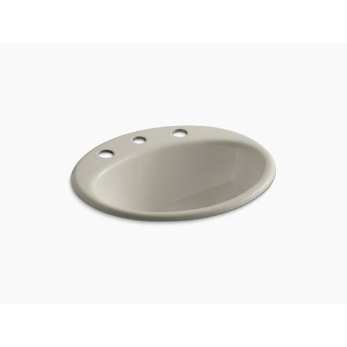 """Sandbar Drop-in Bathroom Sink With 8"""" Widespread Faucet Holes"""