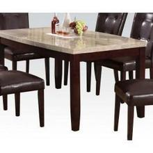 Arc Din. Table W/wh Marble Top
