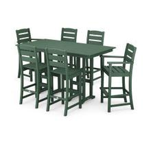 View Product - Lakeside 7-Piece Bar Set in Green