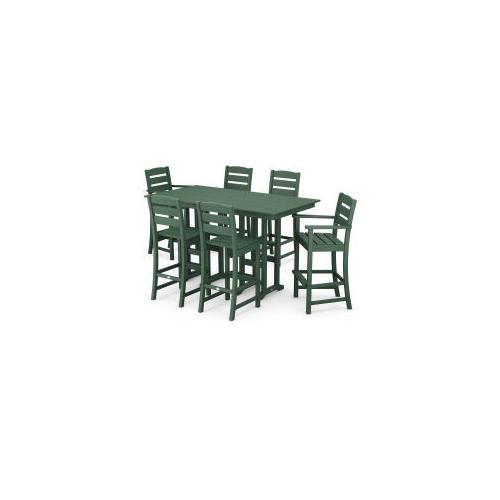 Polywood Furnishings - Lakeside 7-Piece Bar Set in Green