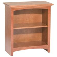 "GAC 29""H x 24""W McKenzie Alder Bookcase in Antique Cherry Finish"
