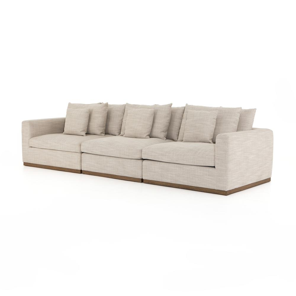 Paz 3 PC Sectional-gable Taupe