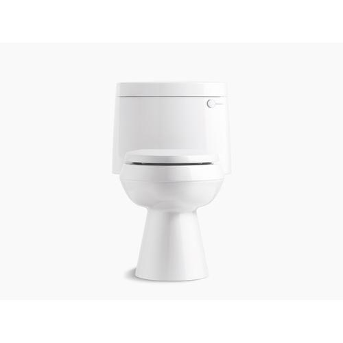 Kohler - White One-piece Elongated 1.28 Gpf Chair Height Toilet With Right-hand Trip Lever, and Quiet-close(tm) Seat