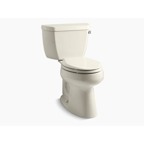 Kohler - Almond Two-piece Elongated 1.28 Gpf Chair Height Toilet With Right-hand Trip Lever