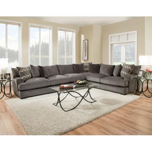 American Furniture Manufacturing - 1600 Ultimate Smoke Sectional