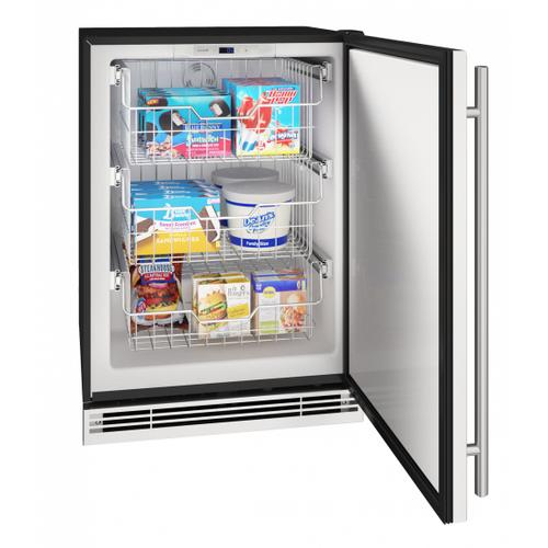 "Hfz124 24"" Convertible Freezer With Stainless Solid Finish (115v/60 Hz Volts /60 Hz Hz)"