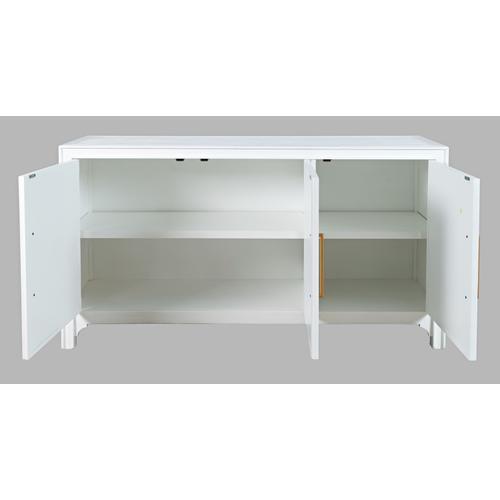 Gramercy Blanc 3 Door Accent Cabinet