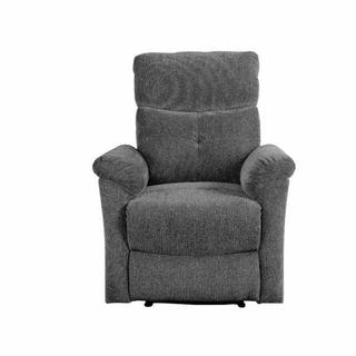 ACME Treyton Glider Recliner - 51817 - Contemporary - Chenille, Frame: Wood (Hermlock/Fir,Ply), Foam (D25), Metal Reclining Mechanism - Gray Chenille