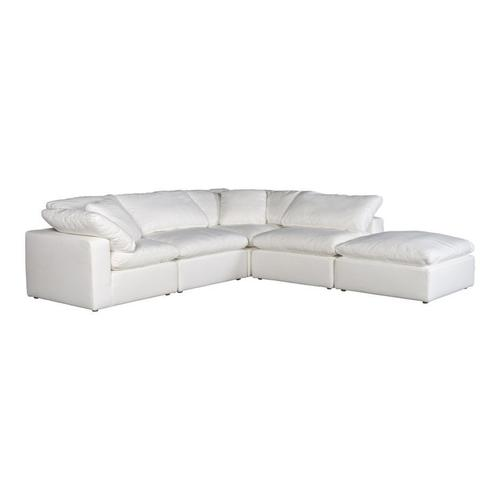 Moe's Home Collection - Clay Dream Modular Sectional Livesmart Fabric White