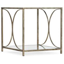 Living Room Novella Wavecrest Metal and Glass End Table