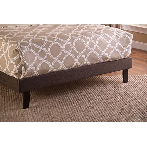 Gallery - Fabric Footboard & Rails - Full - Black/brown Fabric
