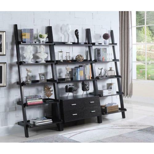 Coaster - Contemporary Cappuccino Leaning Bookcase
