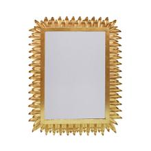 Rectangular Mirror With Leaf Frame In Gold Leaf