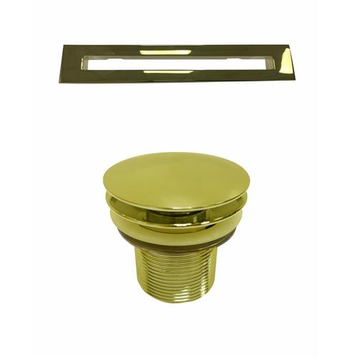 """Product Image - Portia 67"""" Acrylic Freestanding Tub with Integral Drain - Tap Deck - 7"""" Rim Holes / Polished Brass Drain and Overflow"""