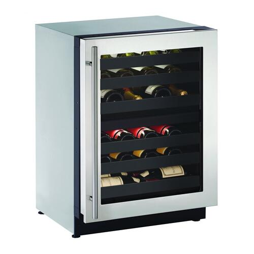 "2224zwc 24"" Dual-zone Wine Refrigerator With Stainless Frame Finish and Left-hand Hinge Door Swing (115 V/60 Hz Volts /60 Hz Hz)"