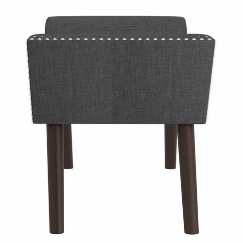 Worldwide Homefurnishings - Lana Bench in Grey